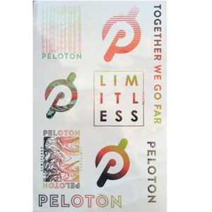 Peloton 2021 We Go Far and Limitless Stickers
